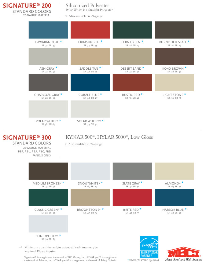 Steel Buildings Sheeting Colors And Profiles